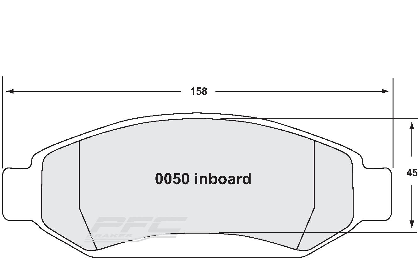 jeep / lincoln / mercury front brake pad