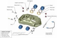 Caliper piston kits